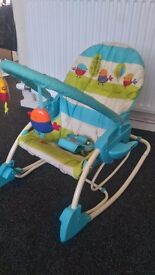 Baby swing. Three functions.Fisher Price.