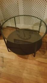 Metal and Glass Circular Coffee Table Free Local Delivery