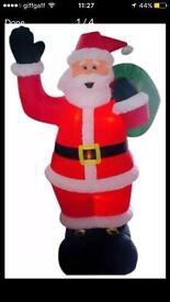 Blow up santa decoration