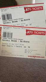 Russel brand tickets x 2 - southport