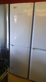 HOTPOINT white Fridge Freezer slightly marked Ex display