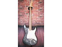 AXL Collection Stratocaster - Black Paisley finish