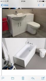 Bathroom suite with furniture pack