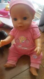 Baby Born girl doll in great condition