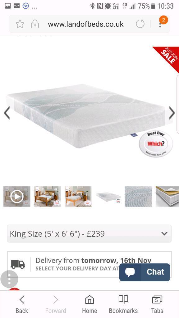 SOLD PENDING COLLECTION King Size memory foam mattress