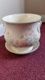 M&S 'Edwardian Lady' planter in saucer