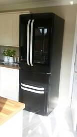 Brand new black gloss american style fridge freezer