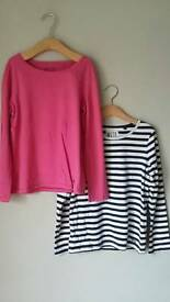 2 x Next 100 % Cotton long sleeved tops age 8