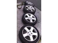 "PEUGEOT 307 17"" ALLOYS 206 / 205 / 406 / SAXO / 306 / GTI 6 / BERLINGO / PARTNER etc BARGAIN £100"