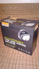 New Halfords Rechargeable Multi Purpose Inflator - tyre/dinghies/beach balls