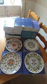23 Wedgwood Year Plates 70s,80s And 90s All Boxed