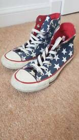 Converse size 5 star high tops