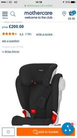 Britax car seat - used 3 times immaculate condition