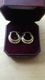 Solid 9 carat gold hoop earrings excellent condition ultra sound cleaned