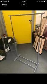 Metal and plastic clothes rails