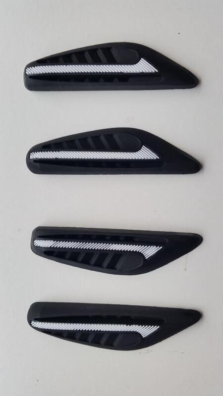 4 x Black Rubber Door Boot Guard Protectors WHITE Insert (DG2) MC17/10