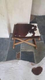 Real cowhide stool