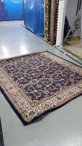 Large size area rug 8x11 feet Dark Blue