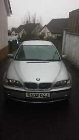 PRICE DROP 2002 Silver BMW 320d great driving car mot'd until November 2017 cheap at £850 ONO