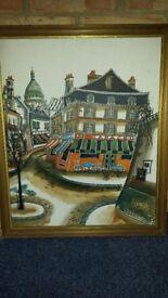 Antique vintage parissiane Robert Scott original oil paintings