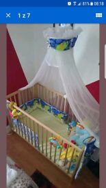 Baby cot canopy