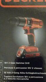 Black & Decker 18v Lithium Drill (New)