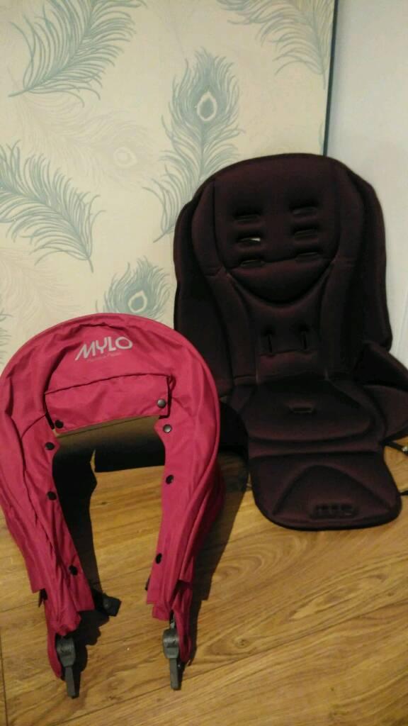 Mama's & Papa's Mylo pram, pushchair hood and seat