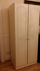 Wardrobe with shelf and hanging rail
