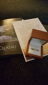 Clogau 9ct gold wedding band 4mm size L