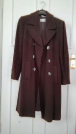 Max Mara Sportmax Virgin Wool Angora Rabbit Brown Coat