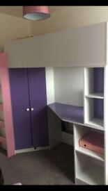 Girls High sleeper bed for sale in great condition £190