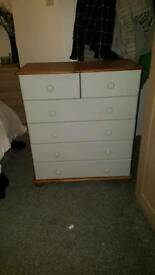 Solid Pine Upcycled Chest of Drawers