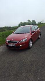 2014 Peugeot 308 hdi..diesel..(£0 tax) full mot..£6500 ono