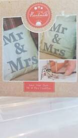 Make your own Mr and Mrs cushion kit