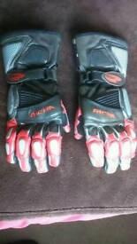 Richa leather bike gloves (large)