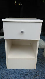 White Small Bedside table with drawer