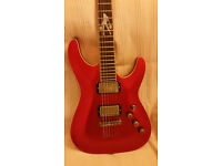 Schecter C-1 Lady Luck Electric Guitar with gig bag.