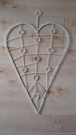 Love heart shabby chic photo holder/memo board