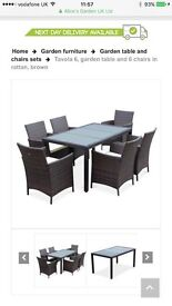 Rattan patio/dining table