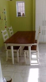 Dining table and 4 chairs £80 or ONO
