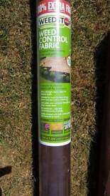 Weed control fabric 13m x 1.2m unopened