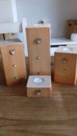 Wooden t-lights