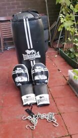 LONDSDALE LONDON BOXING SET NEARLY NEW HARDLY USED