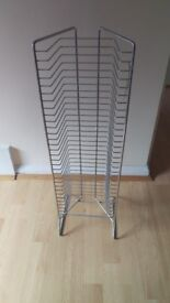chrome wire DVD Rack/stand Holds 30 DVDs