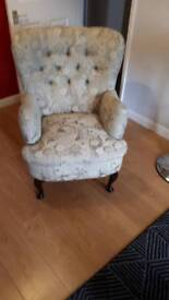 Wing back chair needs recovering