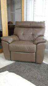 Leather recliner (electric)