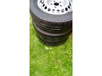 wheels with legal tyres / will fit vivaro or traffic vans £30