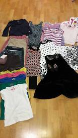 Bundle of 7 year old girls clothes. 21 items. Designer. Fat Face, firetrap, gap, next, M&S.