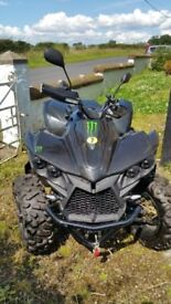 2014 quadbike. MBX750,4×4, road legal, not been used much. Tow bar, front winch. Free large trailer.
