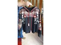 Brand new tribal embroidered hoodie free size upto 18